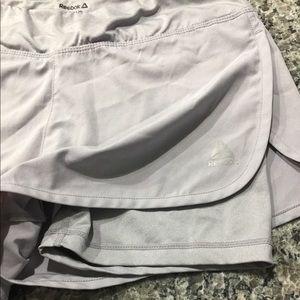 Reebok Shorts - gray athletic shorts with spandex